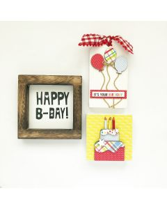 Birthday Kit - Tiered Tray Decor - Foundations Decor