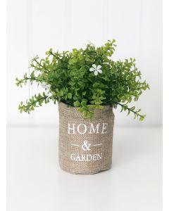 Home & Garden Burlap Bag & Spring Flowers - Tiered Tray Decor - Foundations Decor