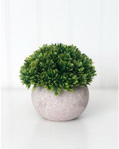 Stone Pot & Foliage - Tiered Tray Decor - Foundations Decor