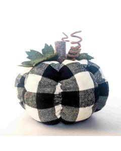 Black Plaid Pumpkin - Tiered Tray Decor - Foundations Decor