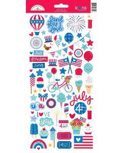 Land That I Love Icons Stickers - Doodlebug