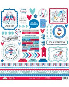 Land That I Love This & That Stickers - Doodlebug