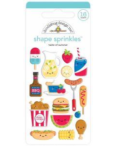 Taste Of Summer Shape Sprinkles - Bar-B-Cute - Doodlebug