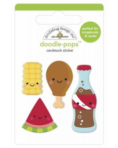Foodie Friends Doodle-Pops - Bar-B-Cute - Doodlebug