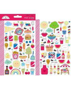 Bar-B-Cute Mini Icons Stickers - Doodlebug