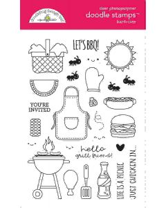 Bar-B-Cute Doodle Stamps - Doodlebug