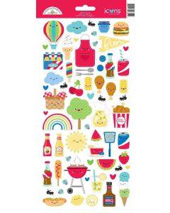 Bar-B-Cute Icons Stickers - Doodlebug
