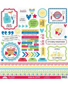 Bar-B-Cute This & That Stickers - Doodlebug