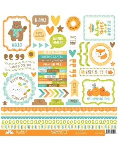 Pumpkin Spice This & That Stickers - Doodlebug*