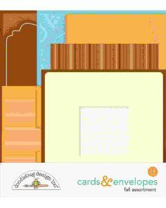 Fall Assortment Cards & Envelopes - Pumpkin Spice - Doodlebug*