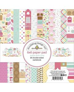"""Made With Love 6"""" x 6"""" Paper Pad - Doodlebug"""