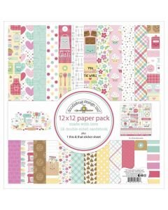 """Made With Love 12"""" x 12"""" Paper Pack - Doodlebug"""
