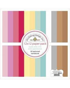 Made With Love Textured Cardstock - Doodlebug