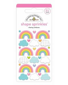 Chasing Rainbows Shape Sprinkles - Fairy Garden - Doodlebug