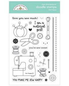 Sew Happy Doodle Stamps - Cute & Crafty - Doodlebug*