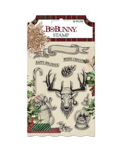 Christmas Treasures Acrylic Stamps - Bo Bunny