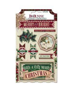 Christmas Treasures Layered Chipboard Stickers - Bo Bunny