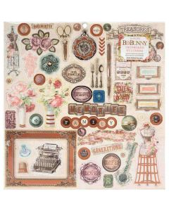 Family Heirlooms Chipboard Stickers - Bo Bunny*
