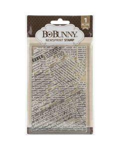 Newsprint Stamp - Bo Bunny*