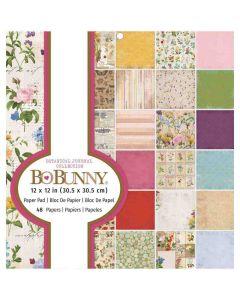 "Botanical Journal 12"" x 12"" Paper Pad - Bo Bunny*"