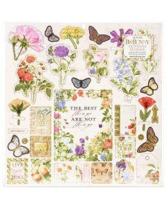 Botanical Journal Chipboard Stickers - Bo Bunny*