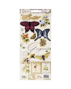 Botanical Journal Cardstock Stickers - Bo Bunny