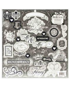 Tuxedos & Tiaras Chipboard Stickers - Bo Bunny*