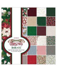 """Joyful Christmas 12"""" x 12"""" Paper Pad - Bo Bunny*"""