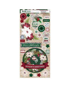 Joyful Christmas Cardstock Stickers - Bo Bunny*