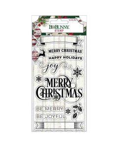 Joyful Christmas Acrylic Stamps - Bo Bunny*