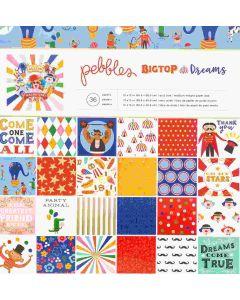 Pebbles Big Top Dreams Cardstock Stack