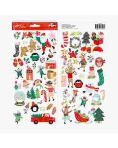 Merry Little Christmas Sticker Sheet - Pebbles