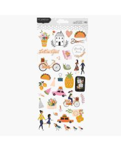"""This Is Family 6"""" x 12"""" Sticker Sheet - Pebbles"""