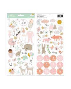"Peek-A-Boo You Girl 6"" x 12"" Sticker Sheet - Pebbles"
