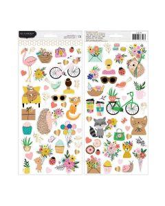 """Hey, Hello 6"""" x 12"""" Sticker Sheet - Jen Hadfield - Pebbles*"""