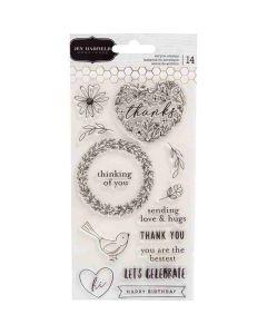 Hey, Hello Acrylic Stamps - Jen Hadfield - Pebbles*