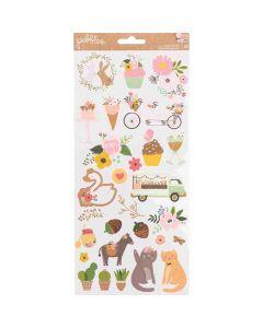 "Lovely Moments 6"" x 12"" Sticker Sheet - Pebbles*"