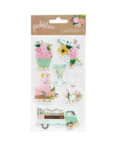 Lovely Moments Shaker Stickers - Pebbles