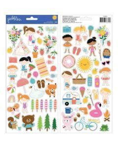 "Sun & Fun 6"" x 12"" Sticker Sheet - Pebbles*"