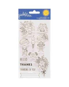 Sun & Fun Clear Stamps - Pebbles*