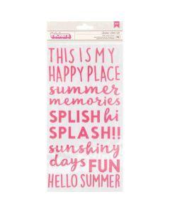 Sun & Fun Phrase Thickers - Pebbles*