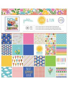 "Sun & Fun 12"" x 12"" Paper Pad - Pebbles*"