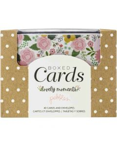 Lovely Moments Boxed Cards - Pebbles*