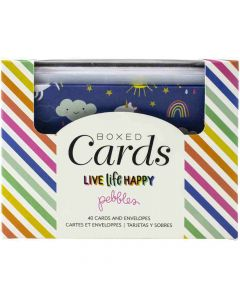 Live Life Happy Boxed Cards - Pebbles*