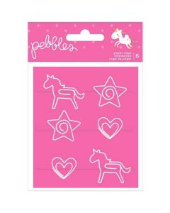 Live Life Happy Shaped Paper Clips - Pebbles*