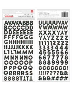 The Avenue Alpha Cardstock on Foam Thickers - Pebbles*
