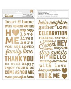 The Avenue Puffy Phrase Thickers, Gold Foil - Pebbles*