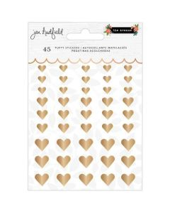 Hearts Puffy Stickers, Gold Foil - The Avenue - Pebbles*