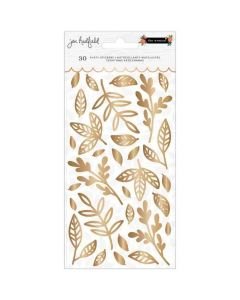 Leaves Puffy Thickers, Gold Foil - The Avenue - Pebbles*