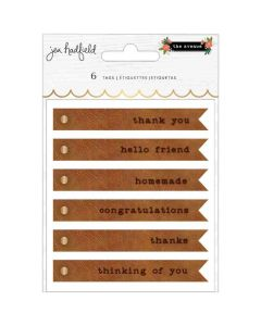 The Avenue Faux Leather Tags - Pebbles*